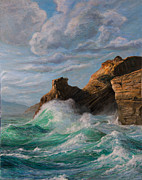 Sausalito Paintings - Cliffs End by Jeanette Sacco-Belli