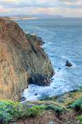 Sausalito Framed Prints - Cliffs Framed Print by JC Findley