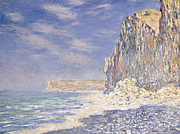 Cliffs Near Fecamp Print by Claude Monet