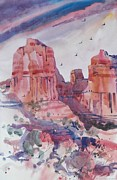 New Mexico Prints - Cliffs near Sedona Print by Micheal Jones