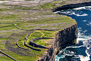 Juergen Klust Metal Prints - Cliffs of Inishmoore Metal Print by Juergen Klust