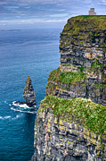 Sea Gulls Prints - Cliffs of Moher 41 Print by Douglas Barnett