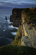 Moher Prints - Cliffs of Moher and OBriens Tower Print by Ruben Vicente