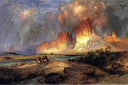 Thomas Moran Prints - Cliffs of the Upper Colorado River Print by Thomas Moran