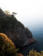 Lounge Photo Originals - Cliffside hotel Praiano Italy by Hugh Smith