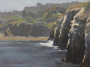 Caves Originals - Cliffside Surf La Jolla by Anna Bain