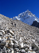 Mt Everest Base Camp Prints - Climbing Glacier Print by Tim Hester