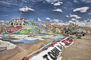 Salvation Mountain Posters - Climbing Salvation Mountain Poster by Hugh Smith