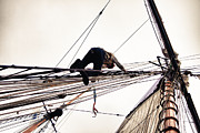 Jeff Folger - Climbing the rigging