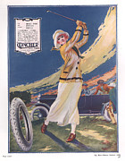 Tires Drawings Posters - Clincher 1919 1910s Uk Golf Tyres Poster by The Advertising Archives