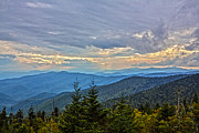 Carolina Photos - Clingmans Dome Evening by John Haldane