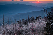 Bruce Photos Posters - Clingmans Dome in  October Poster by Bruce Siulinski