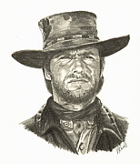 Clint Drawings - Clint Eastwood 2 by Vicki Knoll