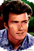 Clint Eastwood Print by Allen Glass