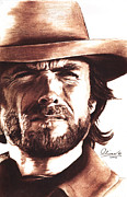 Spaghetti Prints - Clint Eastwood Print by Bill Olivas