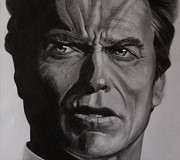 Dirty Harry Drawings - Clint Eastwood Dirty Harry by Fabio Segatori