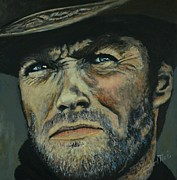 Icon Painting Prints - Clint Eastwood - Fistfull of Dollars Print by Shirl Theis