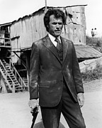 Eastwood Prints - Clint Eastwood is Dirty Harry Print by Silver Screen