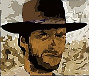 Clint Eastwood Print by John Malone