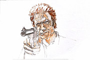 Dirty Harry Drawings - Clint Eastwood - Magnum Force by Sean Connolly