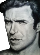Dirty Harry Drawings - Clint by Todd Spaur