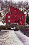 Grist Mill Prints - Clinton Mill Print by Skip Willits