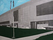 Library Paintings - Clinton Presidential Library by Angelo Thomas