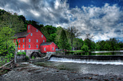 Old Mills Framed Prints - Clinton Red Mill House Framed Print by Lee Dos Santos