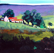 Pastureland Painting Posters - Clitherbeck in the North York Moors Poster by Neil McBride