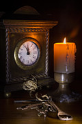 Ann Garrett - Clock Candle and Old Keys