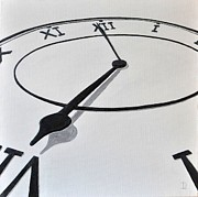 Clock Hands Painting Posters - Clock Face Poster by Declan Leddy