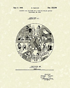 Clock Drawings - Clock Hands 1940 Patent Art by Prior Art Design