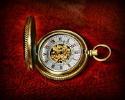 Clockmaker Posters - Clock - The Pocket Watch Poster by Paul Ward