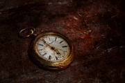Artisan Photos - Clock - Time waits by Mike Savad