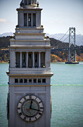Yerba Buena Island Posters - Clock Tower Bridge Poster by SFPhotoStore