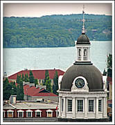 Kingston Digital Art Prints - Clock Tower Print by Donna Brown
