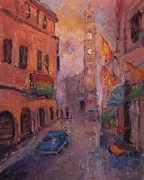 R W Goetting - Clock tower in Montalcino