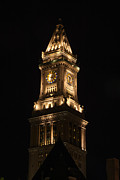 Boston Ma Photo Originals - Clock Tower by Kelly Carey