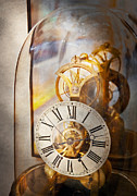 Gear Metal Prints - Clockmaker - A look back in time Metal Print by Mike Savad