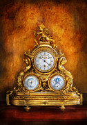 Gold Framed Prints - Clockmaker - Anyone have the time Framed Print by Mike Savad