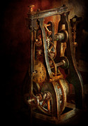Clocks Posters - Clockmaker - Careful I bite Poster by Mike Savad