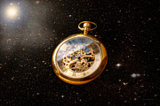 Steampunk Art - Clockmaker - Space time by Mike Savad