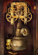 Clocks Photo Framed Prints - Clockmaker - The Mechanism  Framed Print by Mike Savad