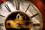 Rusted Prints - Clockmaker - What time is it Print by Mike Savad