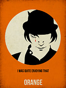 Film Mixed Media Metal Prints - Clockwork Orange Poster Metal Print by Irina  March