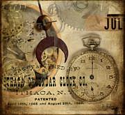 Clockworks Print by Fran Riley