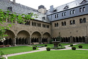 Cloistered Prints - Cloister Minster Bonn Print by Christiane Schulze