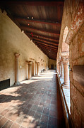 Cloisters Museum Prints - Cloisters Corridor Print by Ray Warren