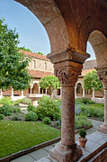 Cloisters Museum Prints - Cloisters Courtyard Print by Ray Warren