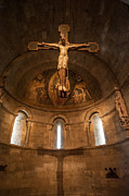 Cloisters Museum Prints - Cloisters Crucifixion Print by Ray Warren